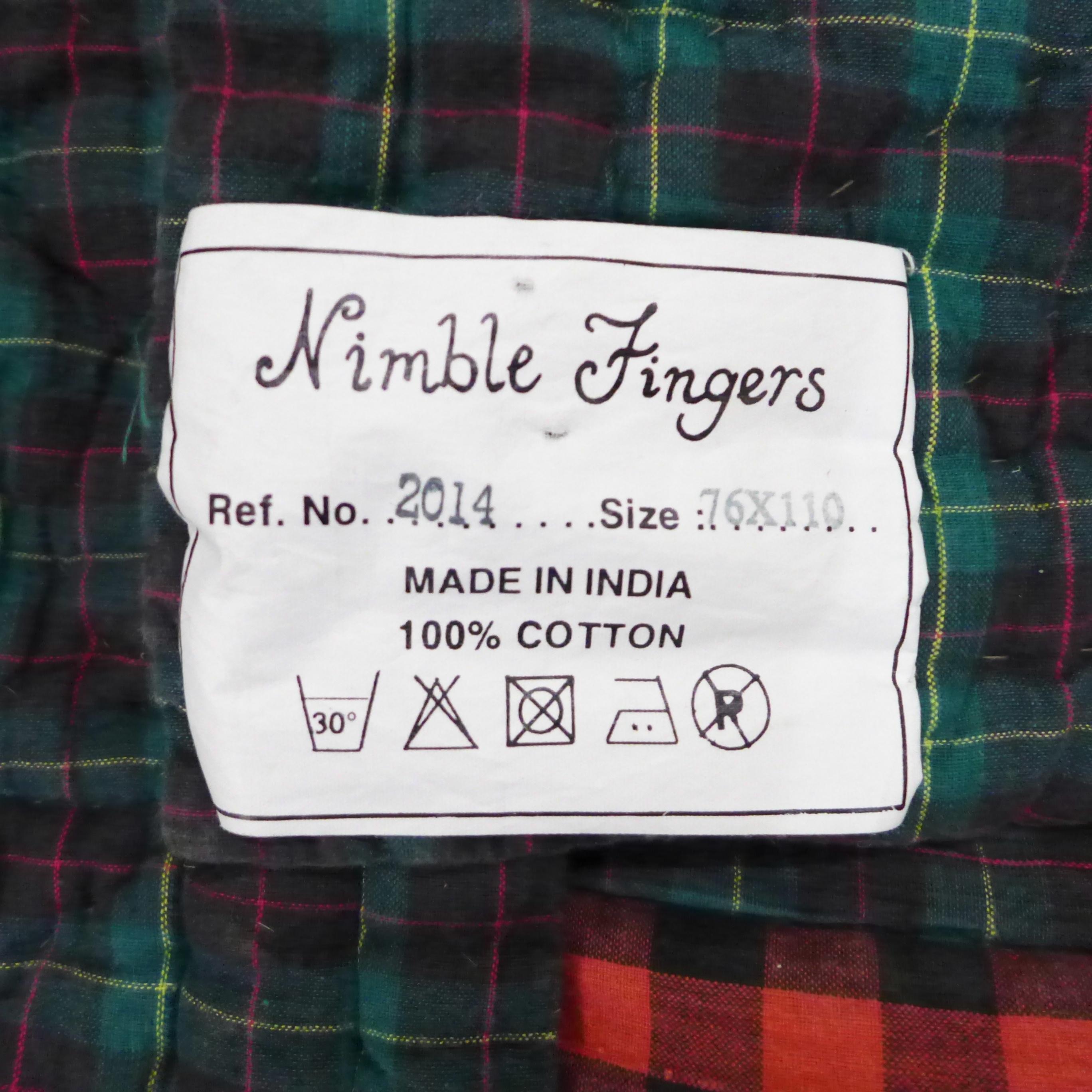 A vintage 1970's/80's quilt, Nimble Fingers 100% cotton, double to kingsize - Image 4 of 4