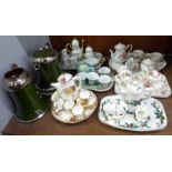 A collection of six miniature teasets including Regal, Paul Ann, Staffordshire Collectables, the