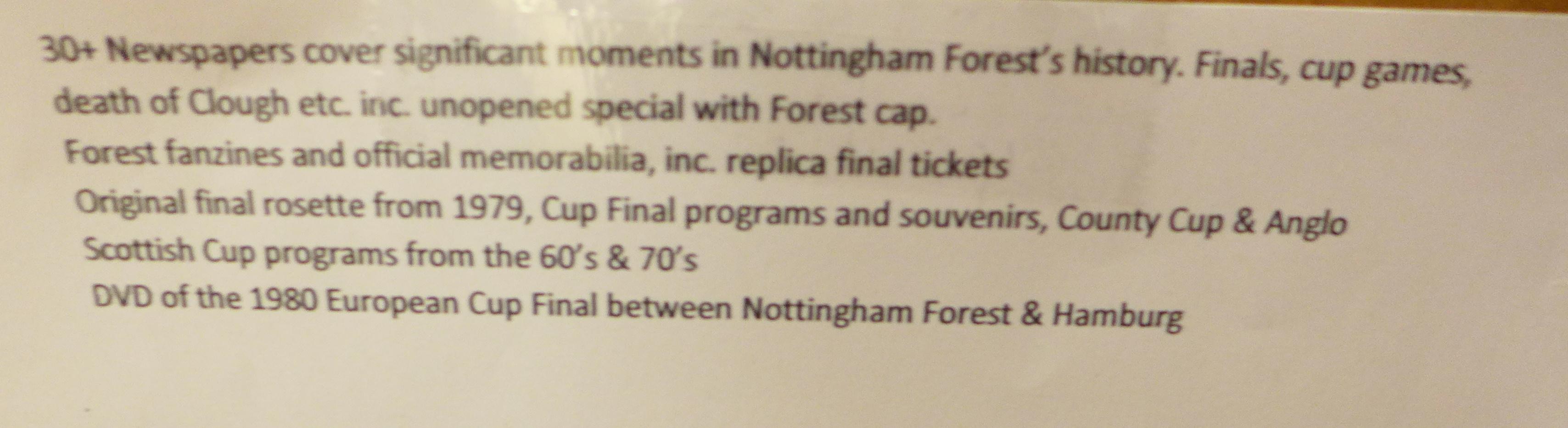 Football programmes including Nottingham Forest and other Nottingham Forest ephemera - Image 5 of 5