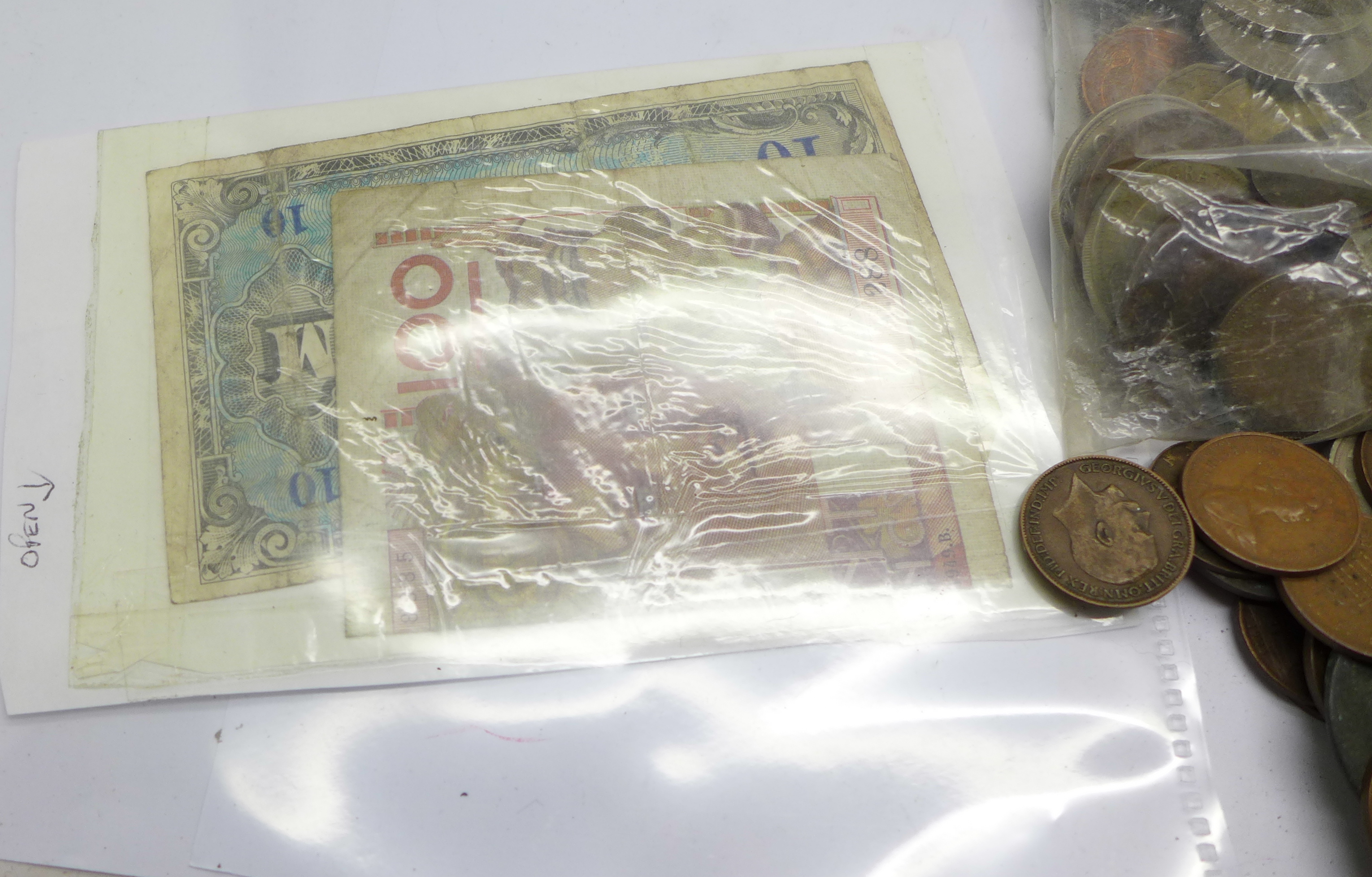 A tin of coins, bank notes and cheques - Image 5 of 5