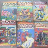 A collection of twenty-six 1960's Fantastic Superhero magazines including specials