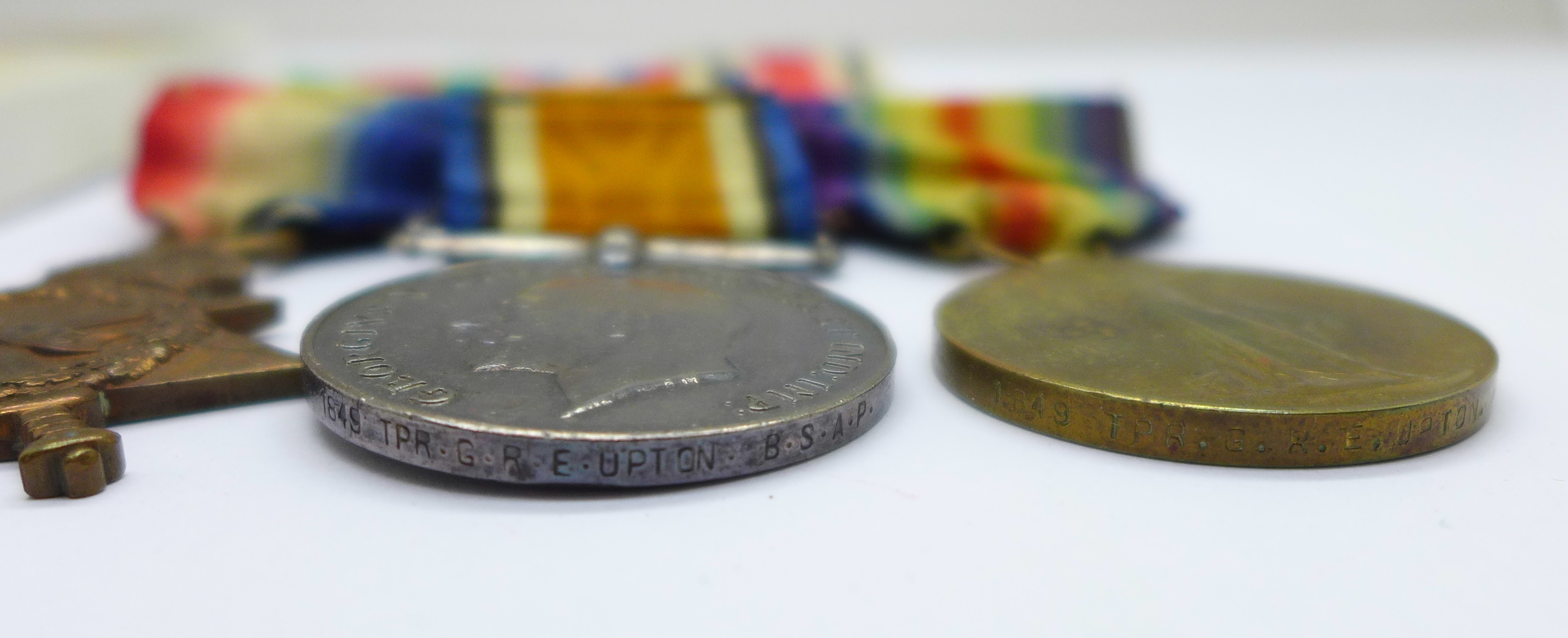 A family group of medals, three WWII medals including Special Constable, a trio of WWI medals to - Image 4 of 6