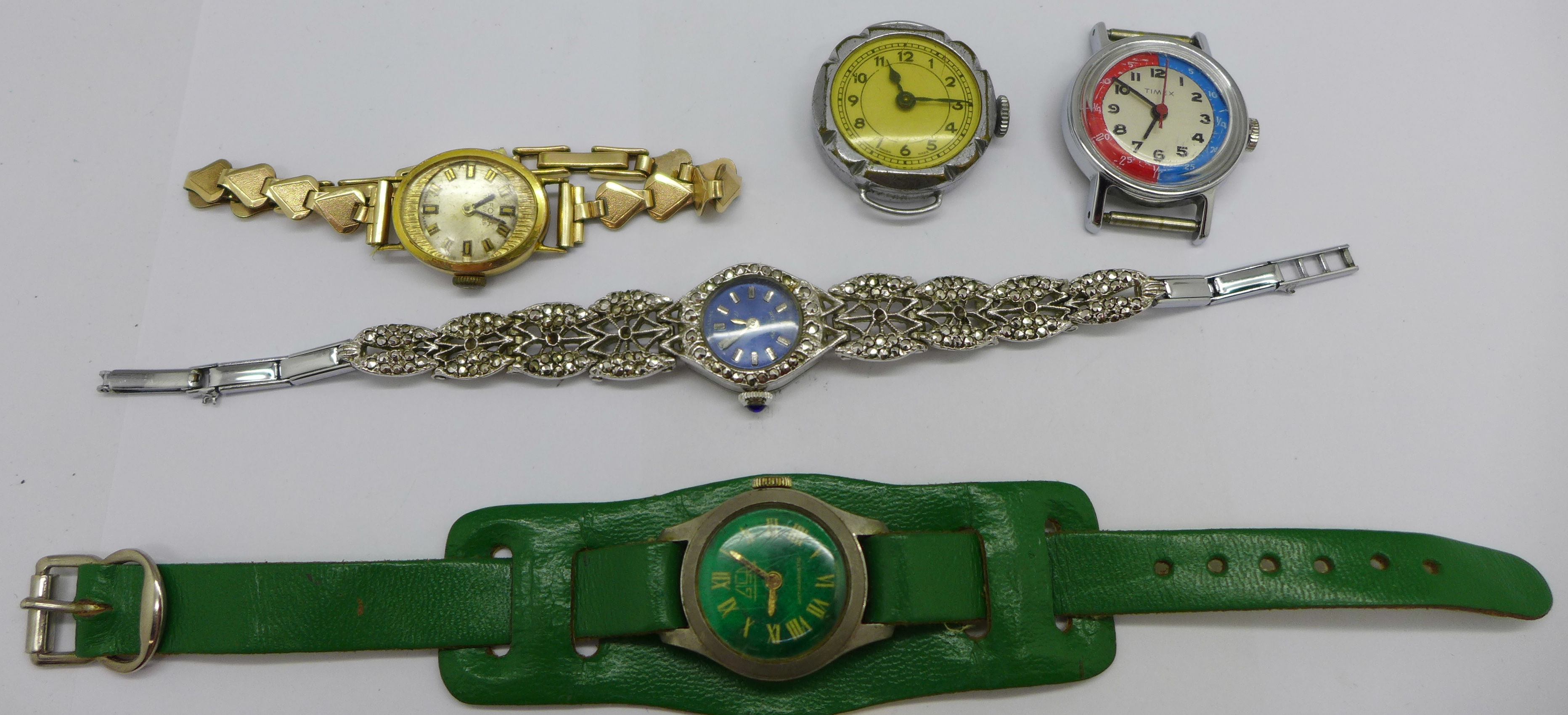 Six lady's wristwatches - Image 2 of 3