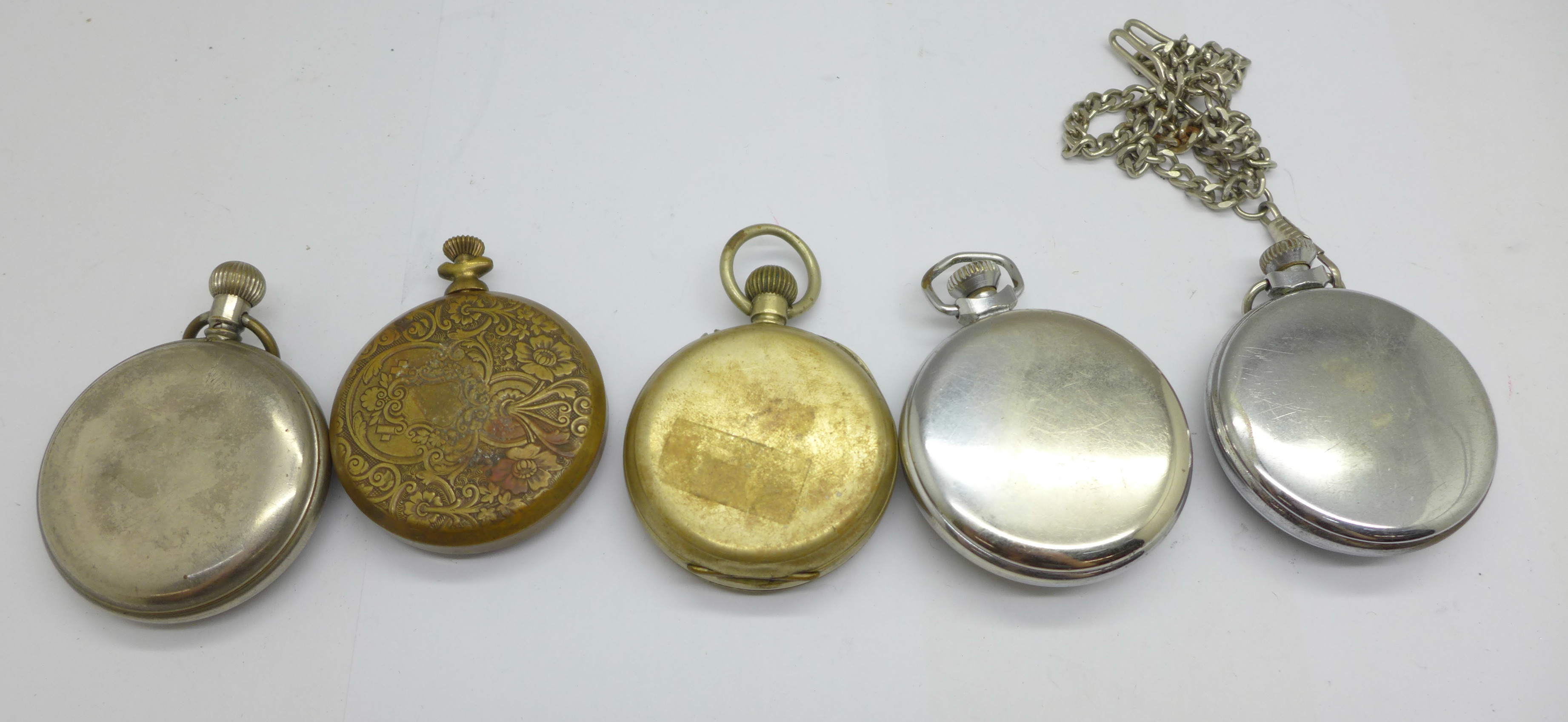 Five pocket watches - Image 4 of 4