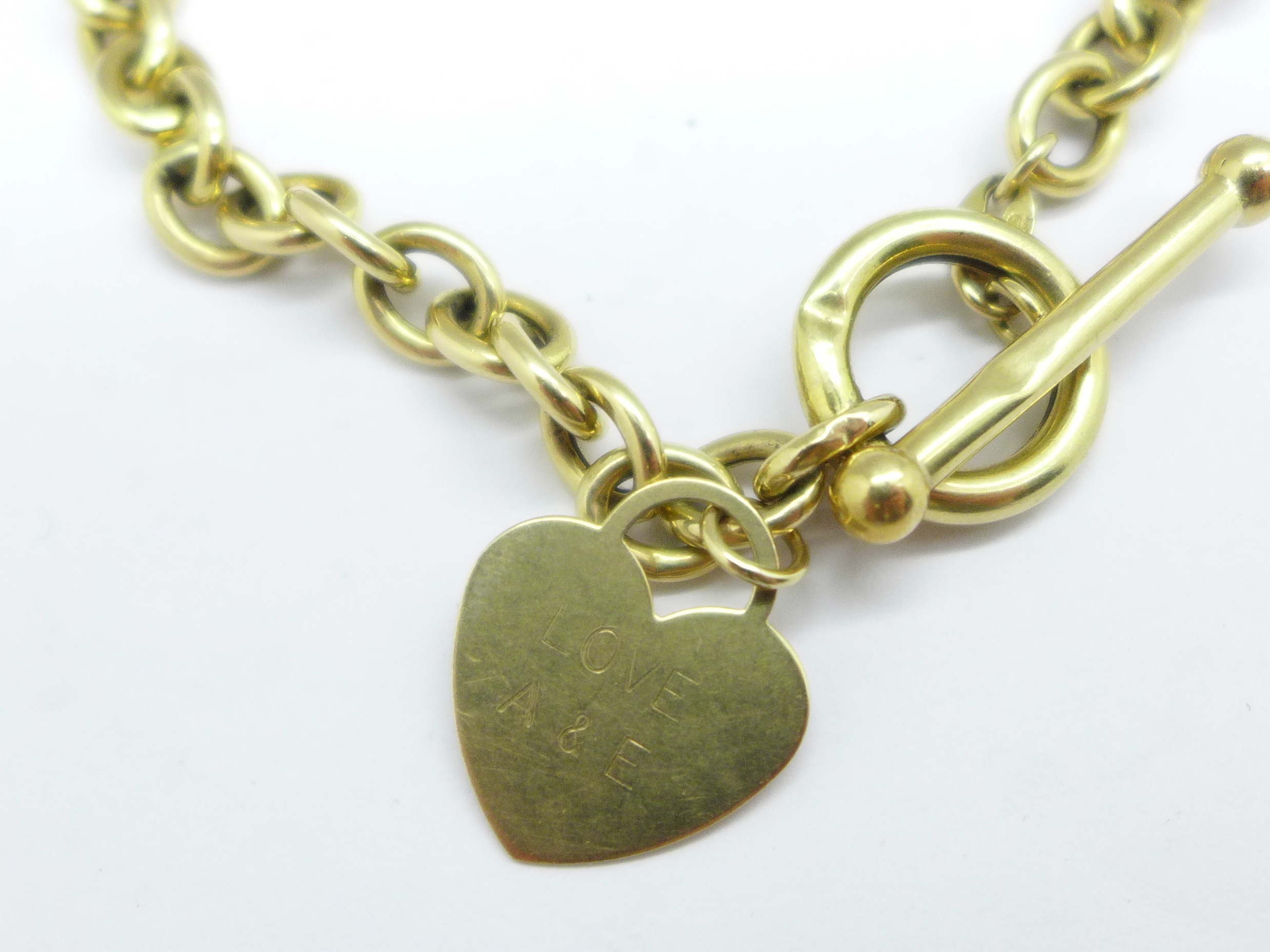 A yellow metal bracelet, 5.5g - Image 3 of 3