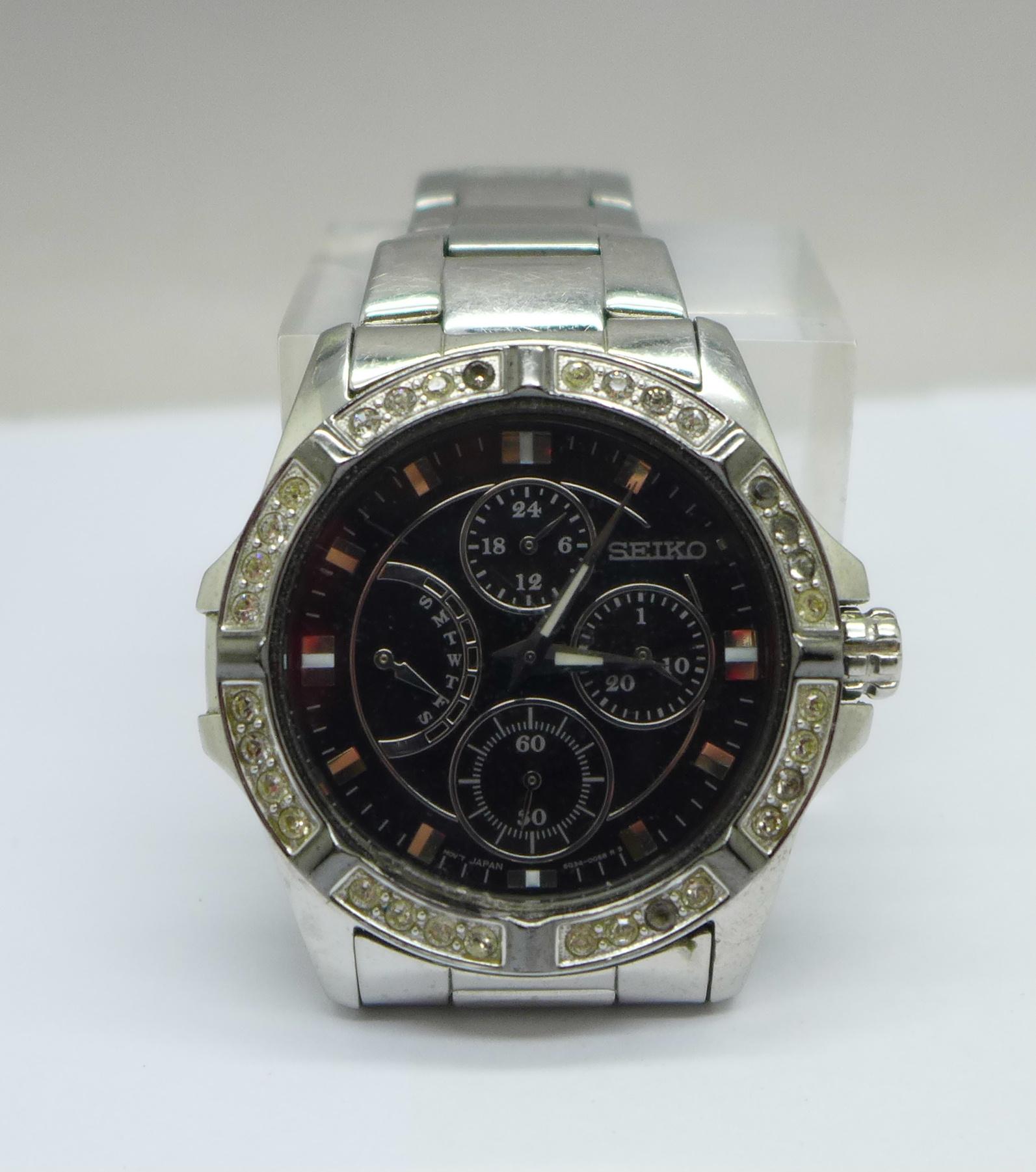 A Seiko multi dial wristwatch