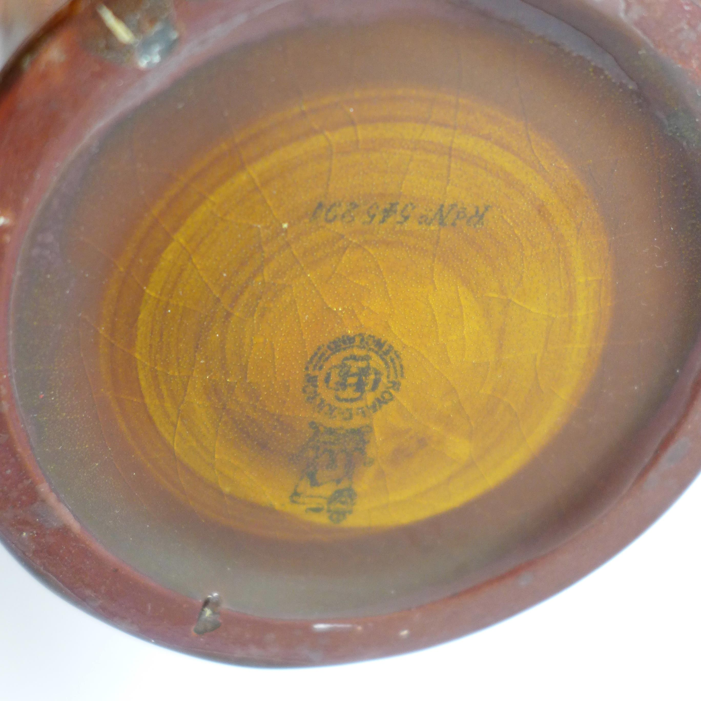 A Doulton Kingsware Dewars whisky flask with image of George the Guard - Image 4 of 5