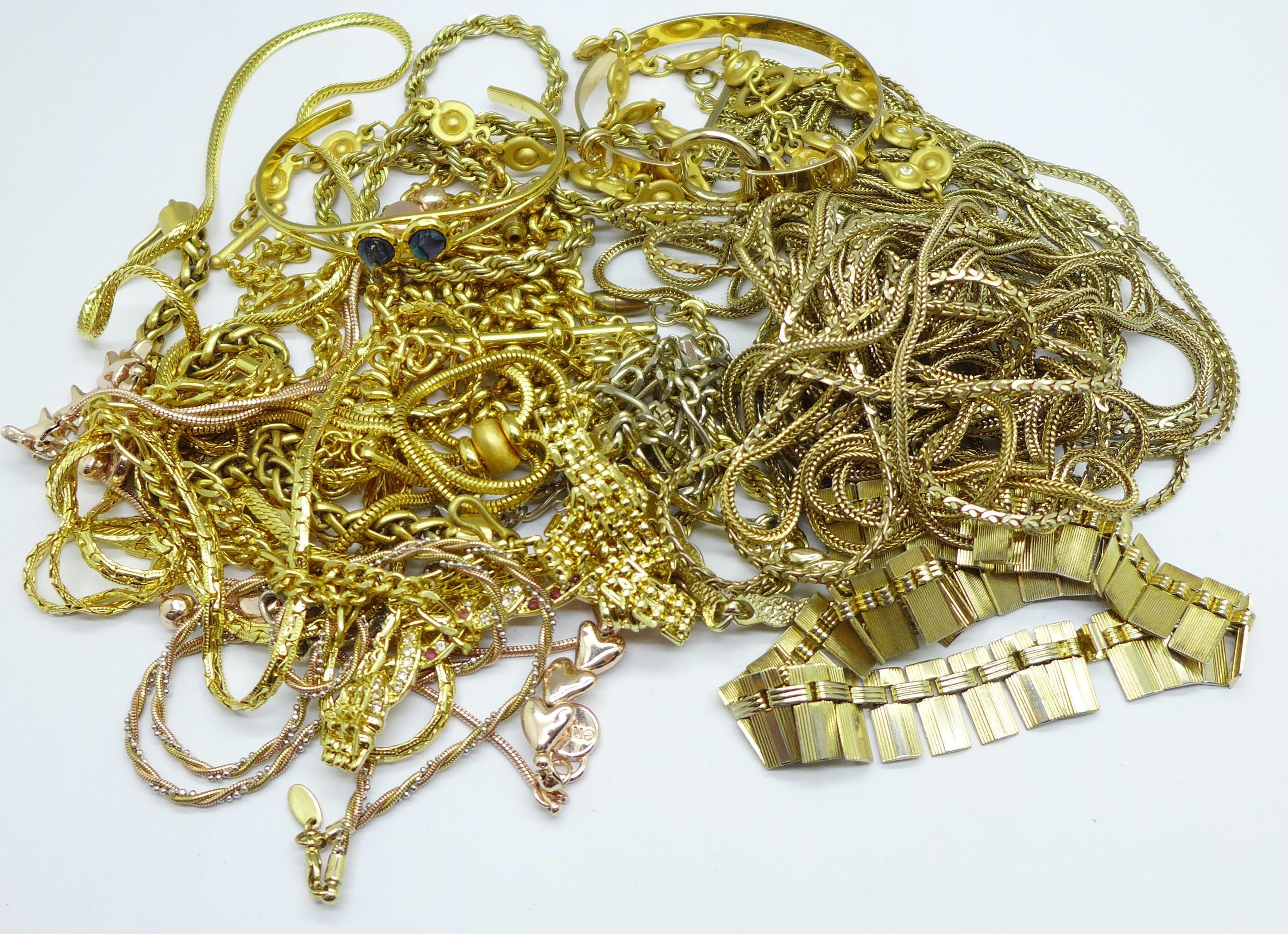 Gold tone costume jewellery