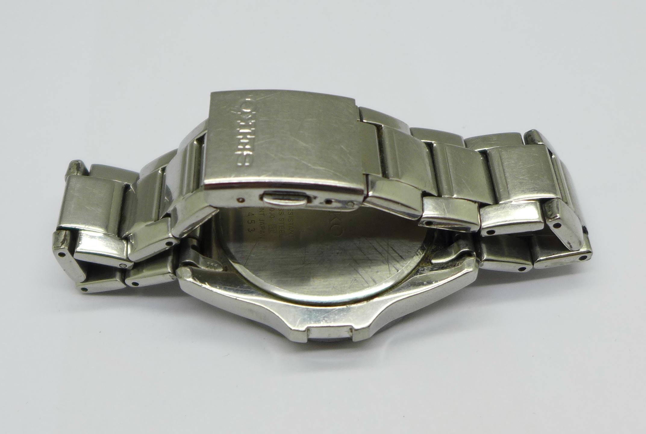 A Seiko multi dial wristwatch - Image 4 of 6