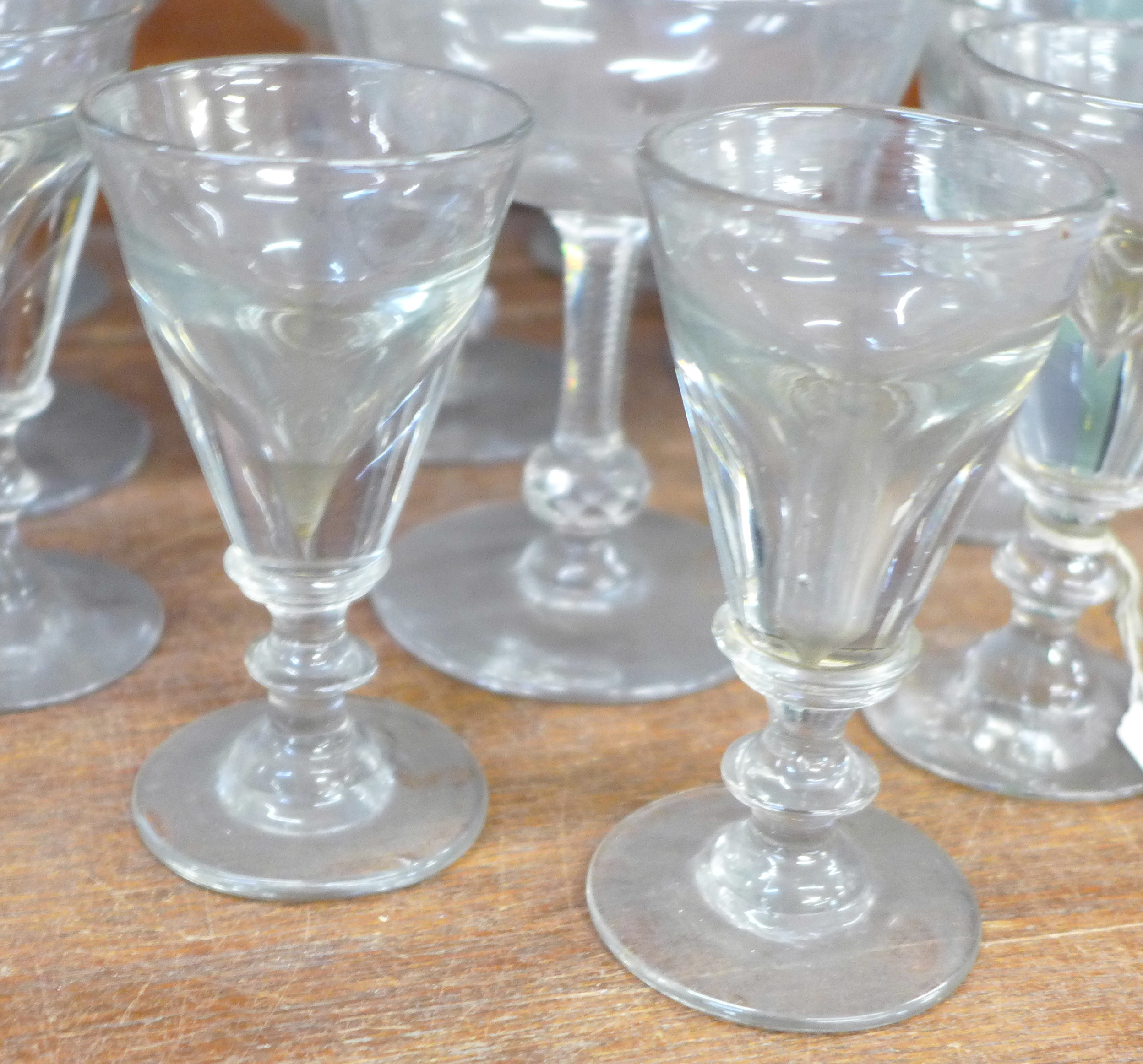 Seven 19th Century champagne coupes and five penny licks - Image 2 of 3
