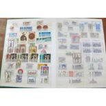 Stamps; East Germany stamps and postal history in stock book