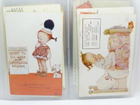 Fifty-two Mabel Lucie Attwell postcards, circa 1930's (single recipient collection)
