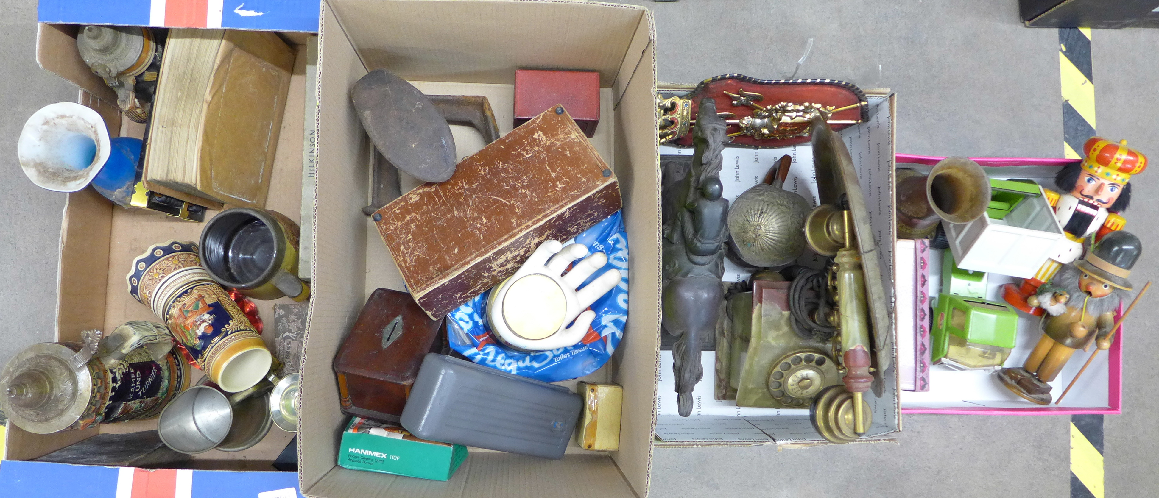 Four boxes of assorted items **PLEASE NOTE THIS LOT IS NOT ELIGIBLE FOR POSTING AND PACKING**