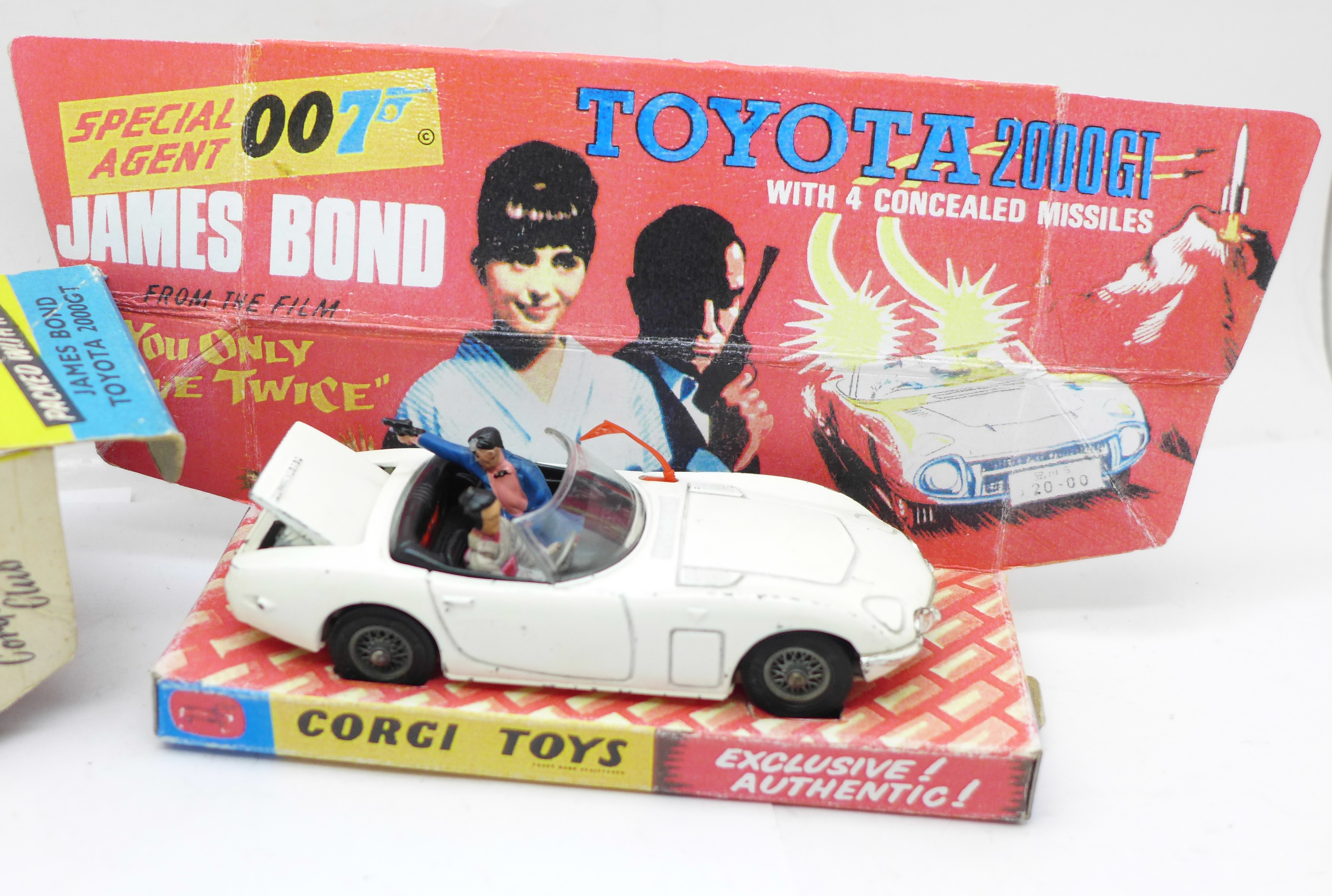 A Corgi Toys No. 366, James Bond Toyota 2000GT, boxed, with reproduction inner - Image 2 of 7