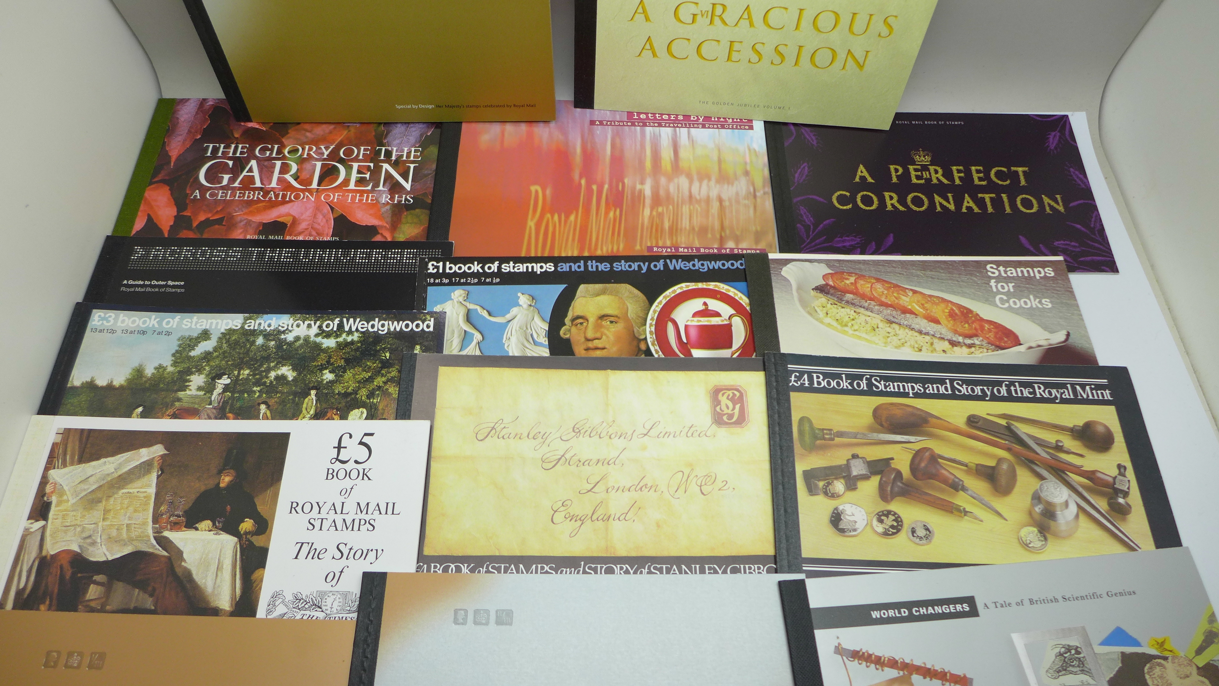 Stamps; GB prestige booklets, including both Wedgwood, 15 booklets with a face value of - Image 3 of 5