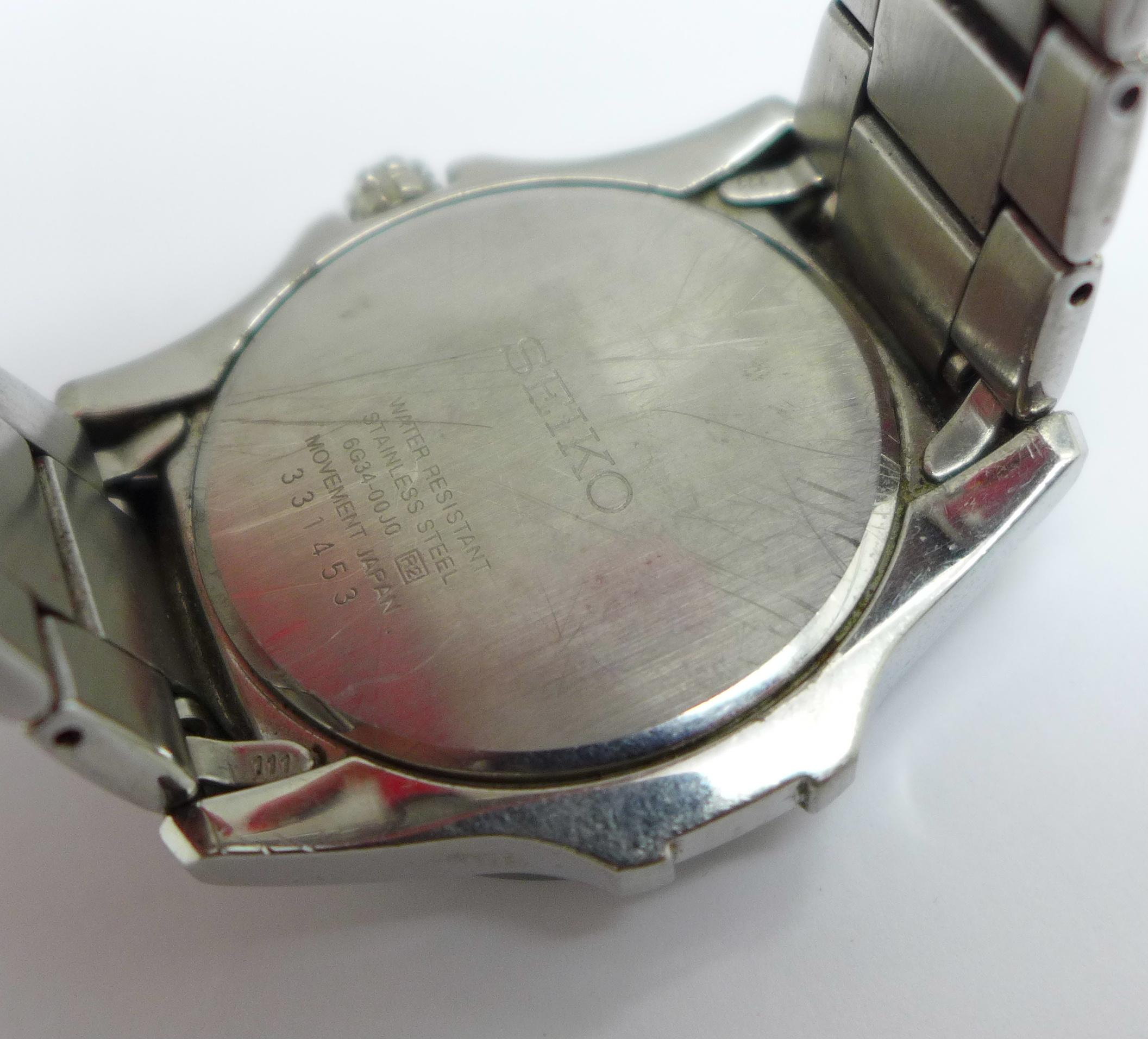 A Seiko multi dial wristwatch - Image 5 of 6