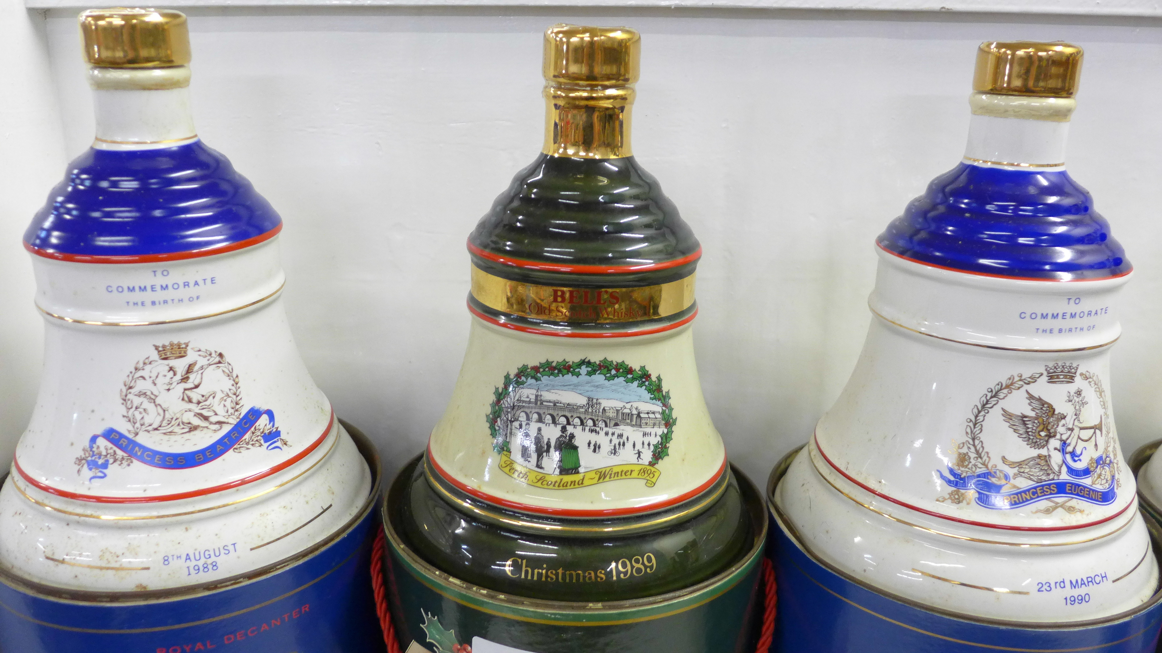 Five Bell's Old Scotch Whisky decanters in containers; three Extra Special - Image 2 of 3