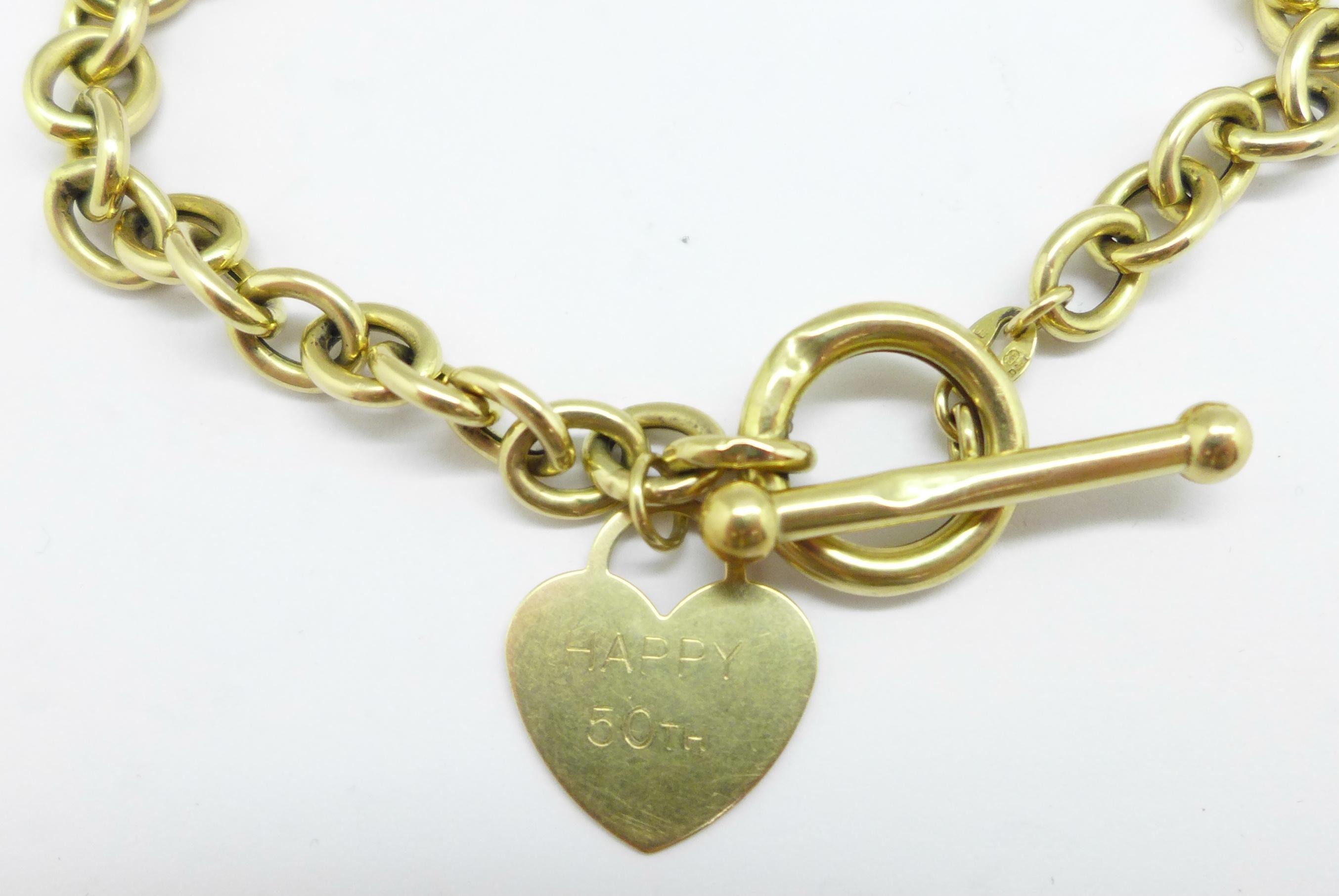 A yellow metal bracelet, 5.5g - Image 2 of 3