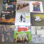 Fifteen LP records including Blondie, Fleetwood Mac, Status Quo (limited edition blue vinyl), Eric