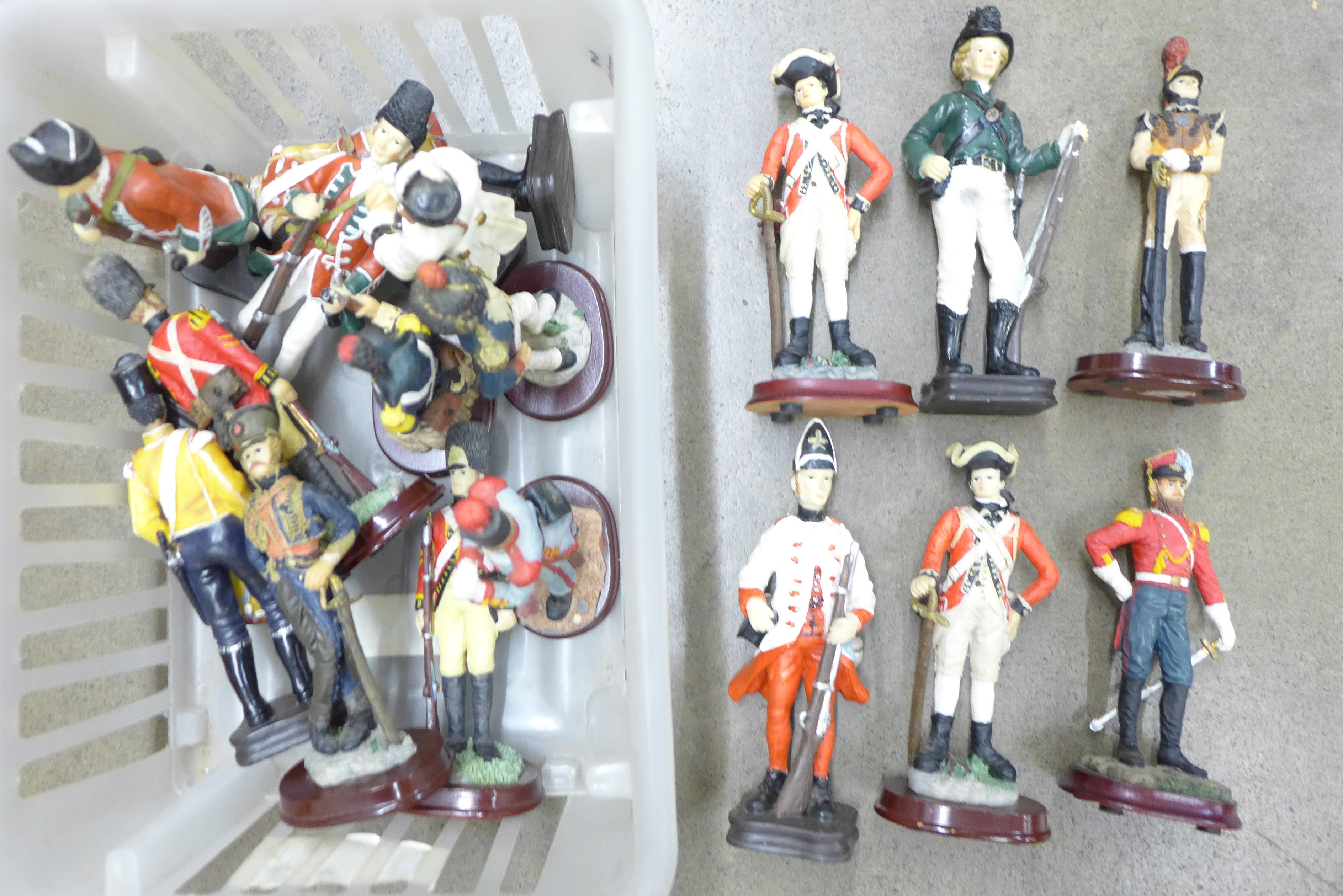 A collection of military figures **PLEASE NOTE THIS LOT IS NOT ELIGIBLE FOR POSTING AND PACKING**