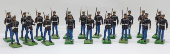 Twenty 1986 Britains Toys marching Marine figures