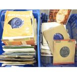 """A collection of 1960's - 1980's 7"""" vinyl records"""