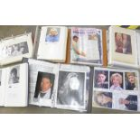 Six albums of celebrity autographs, publicity photographs, Brookside, Eastenders, Australian