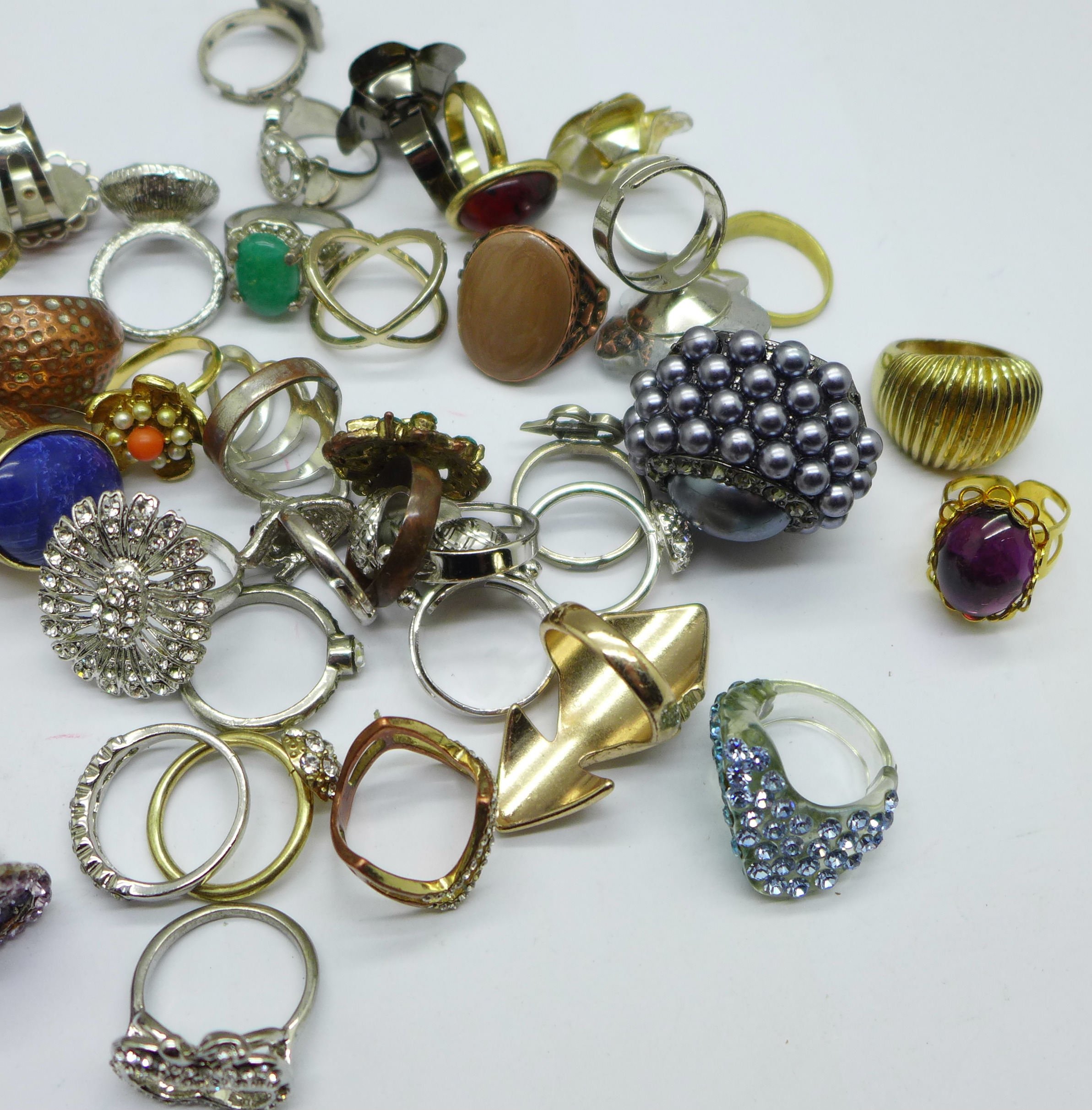 Fifty-five costume rings - Image 3 of 3
