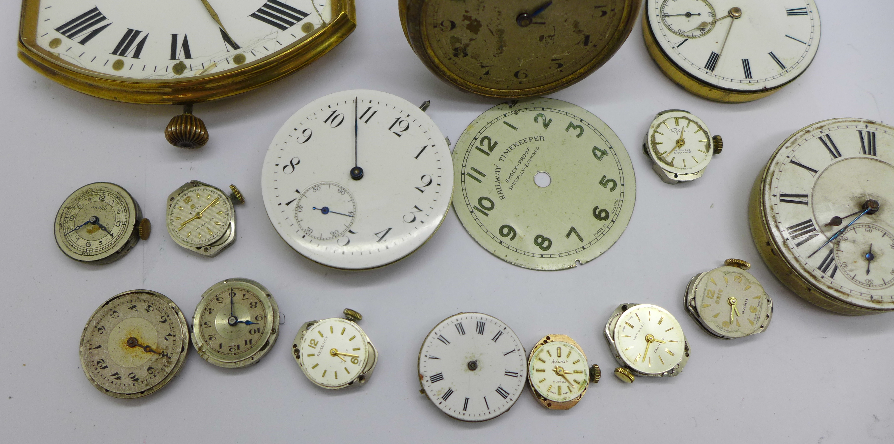 A clock movement, pocket watch movements and wristwatch movements - Image 3 of 6