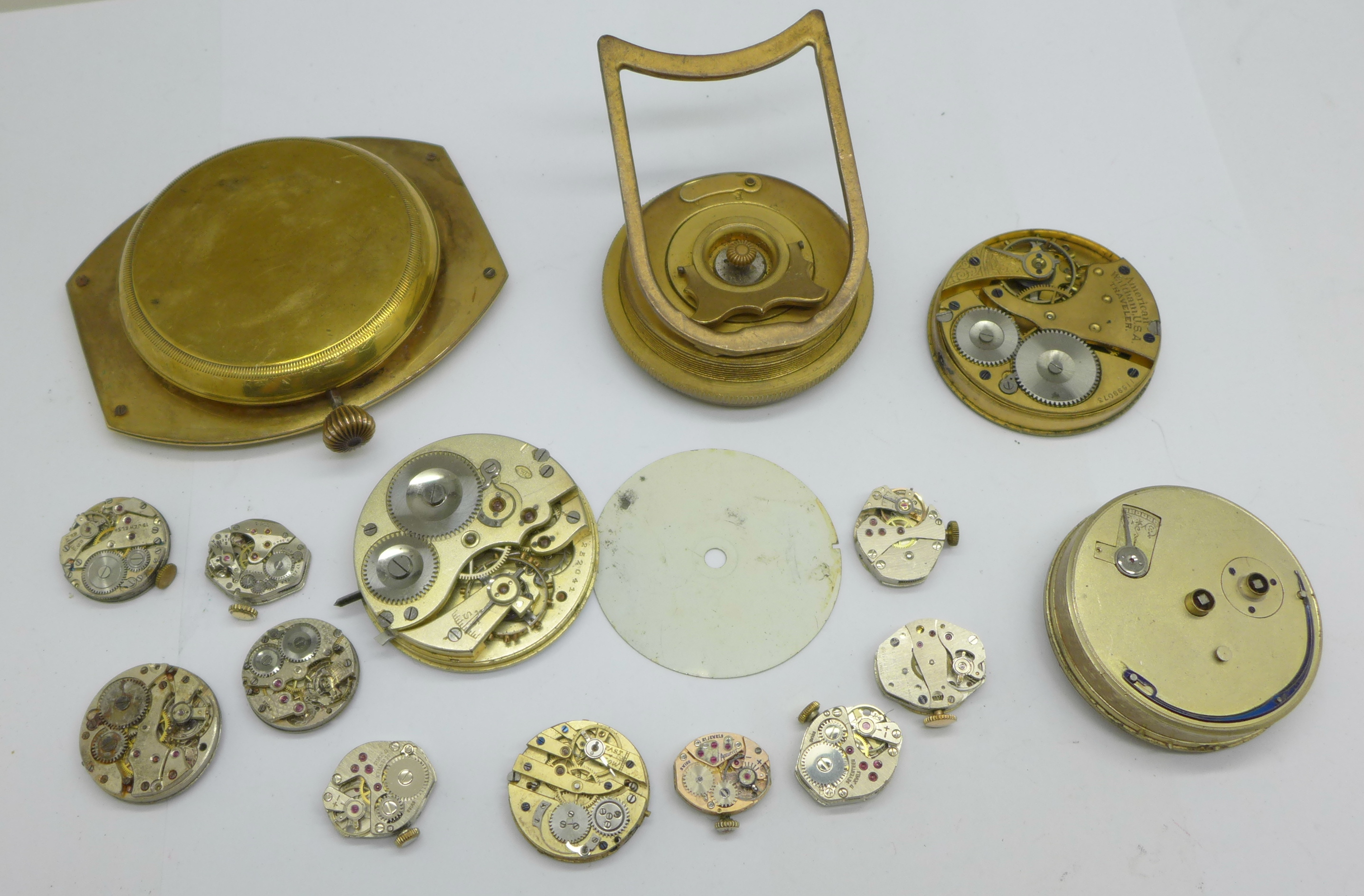 A clock movement, pocket watch movements and wristwatch movements - Image 6 of 6