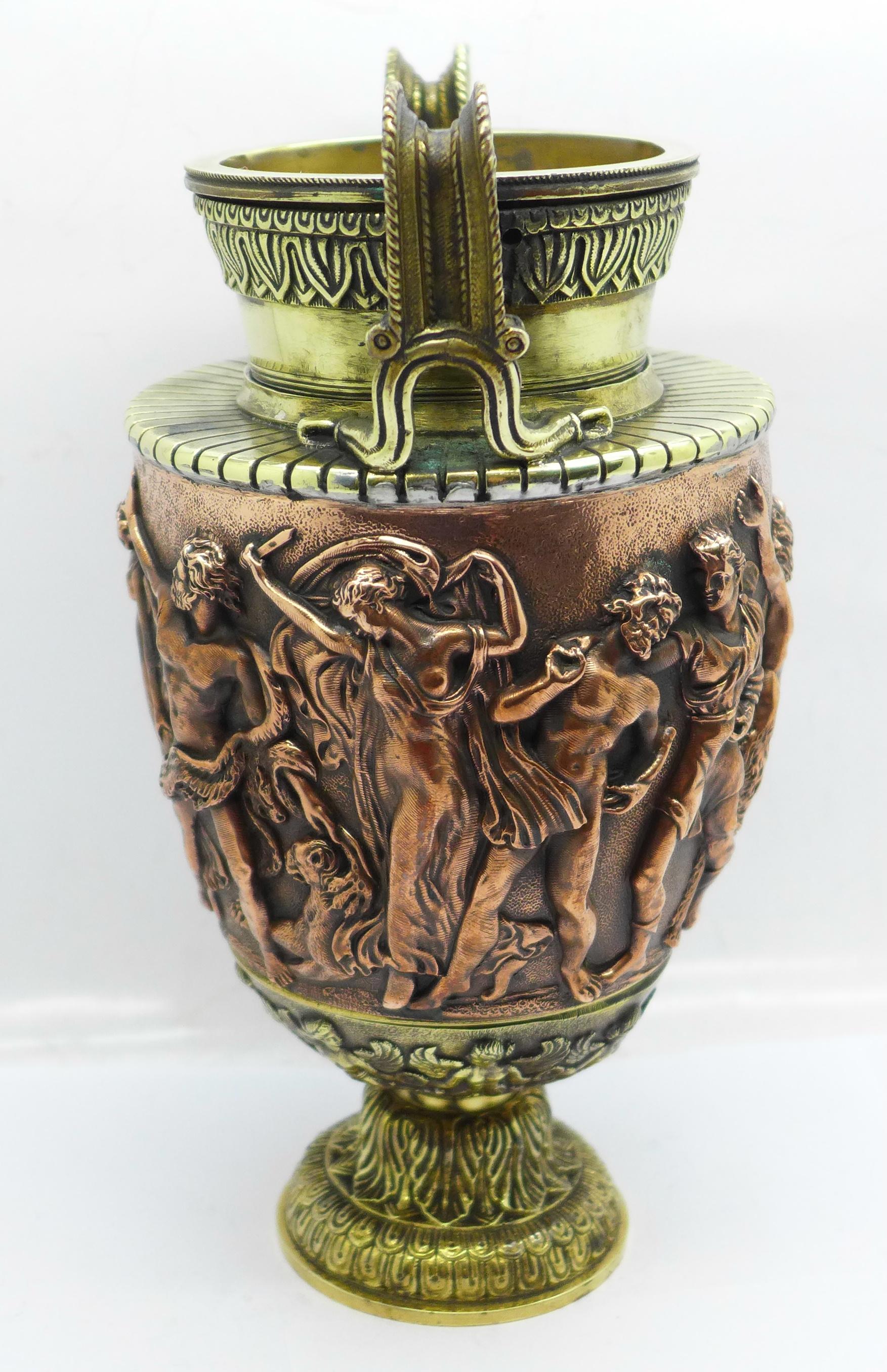 A bronze urn, Festival of Bacchus, 20cm - Image 2 of 6