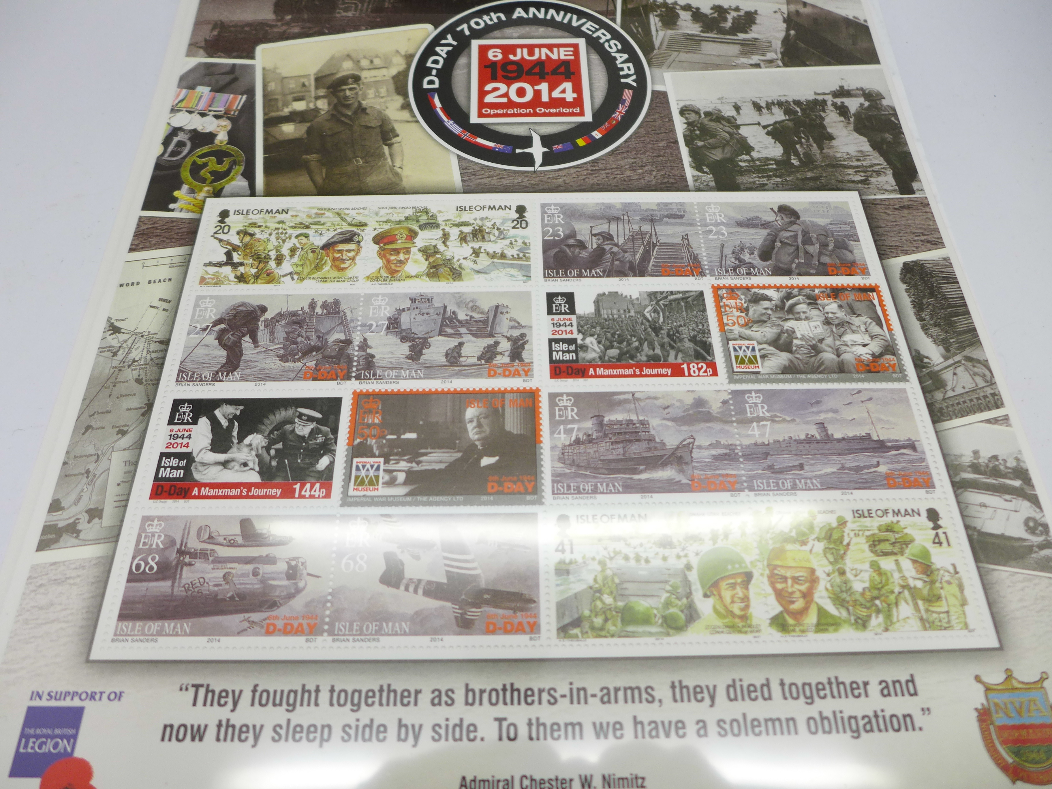 Isle of Man, 2014 D-Day 70th Anniversary 6th June 1944, Operation Overlord, fact sheets, etc. - Image 2 of 3
