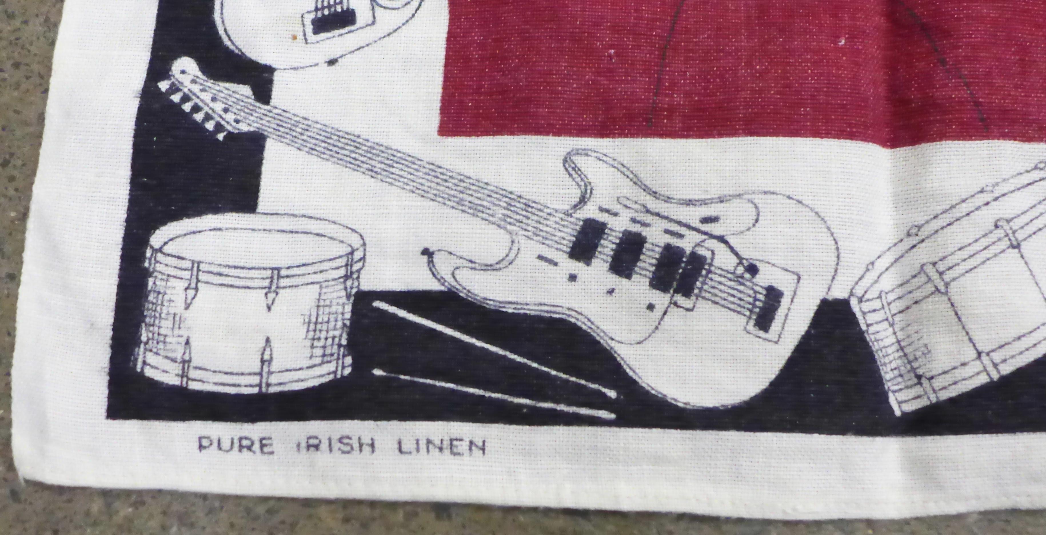 A Beatles tea towel - Image 2 of 4