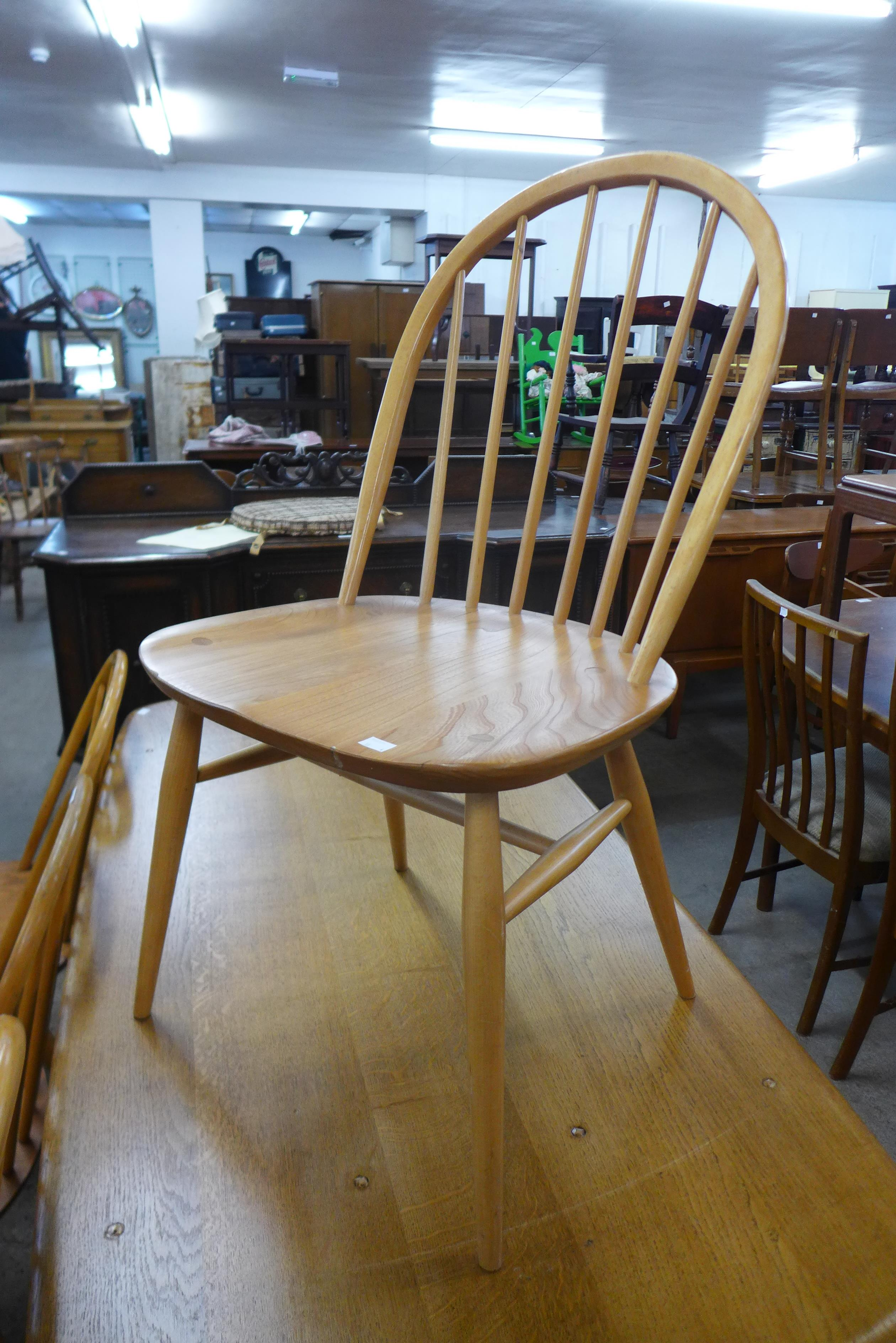 A set of four Ercol Blonde elm and beech Windsor chairs - Image 2 of 2