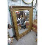 A Victorian gilt gesso framed mirror, a/f