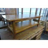 A teak coffee table