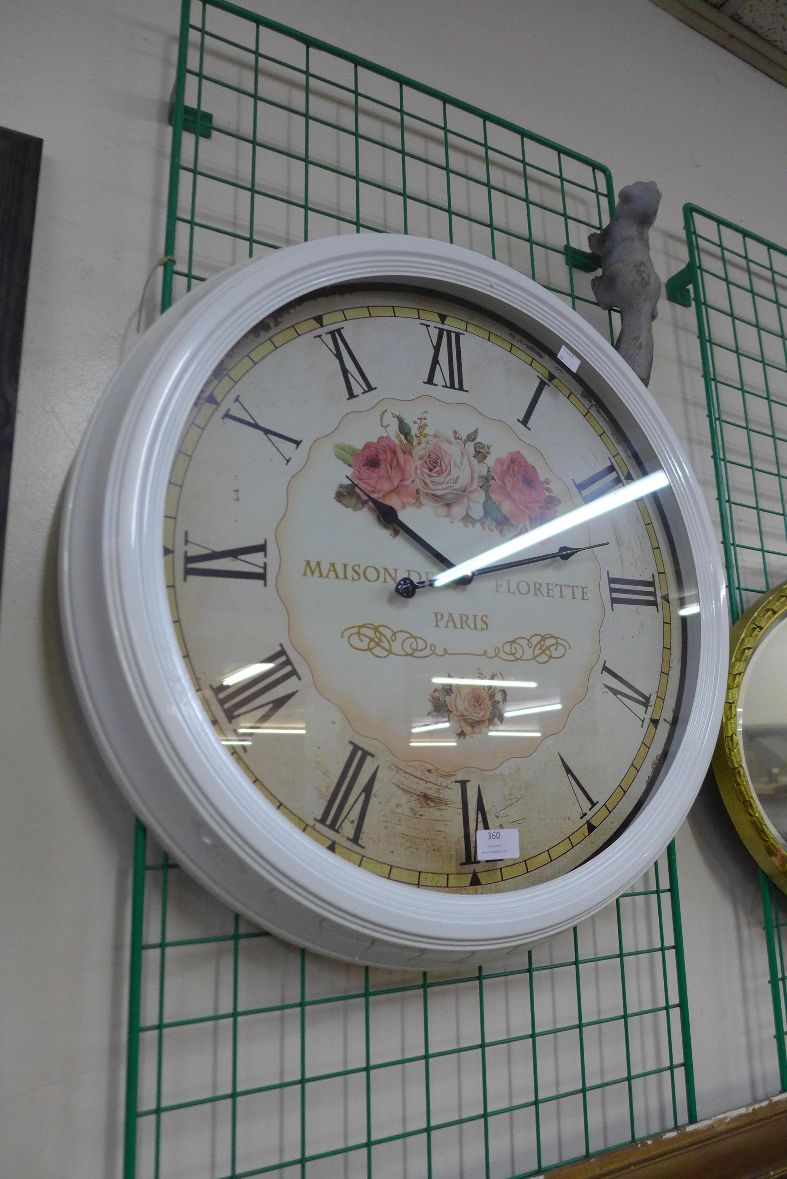 A French style circular wall clock