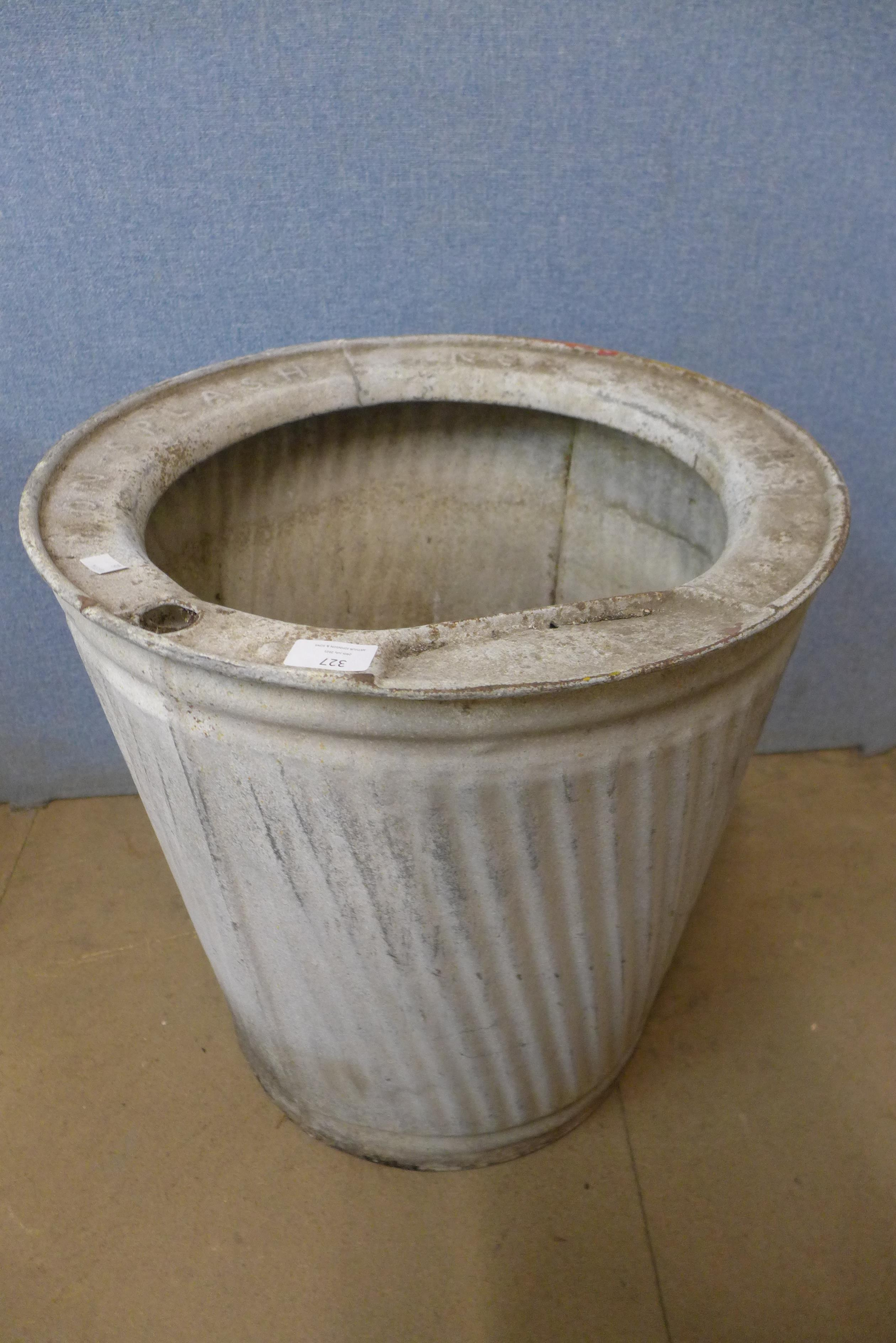 A galvanised dolly tub