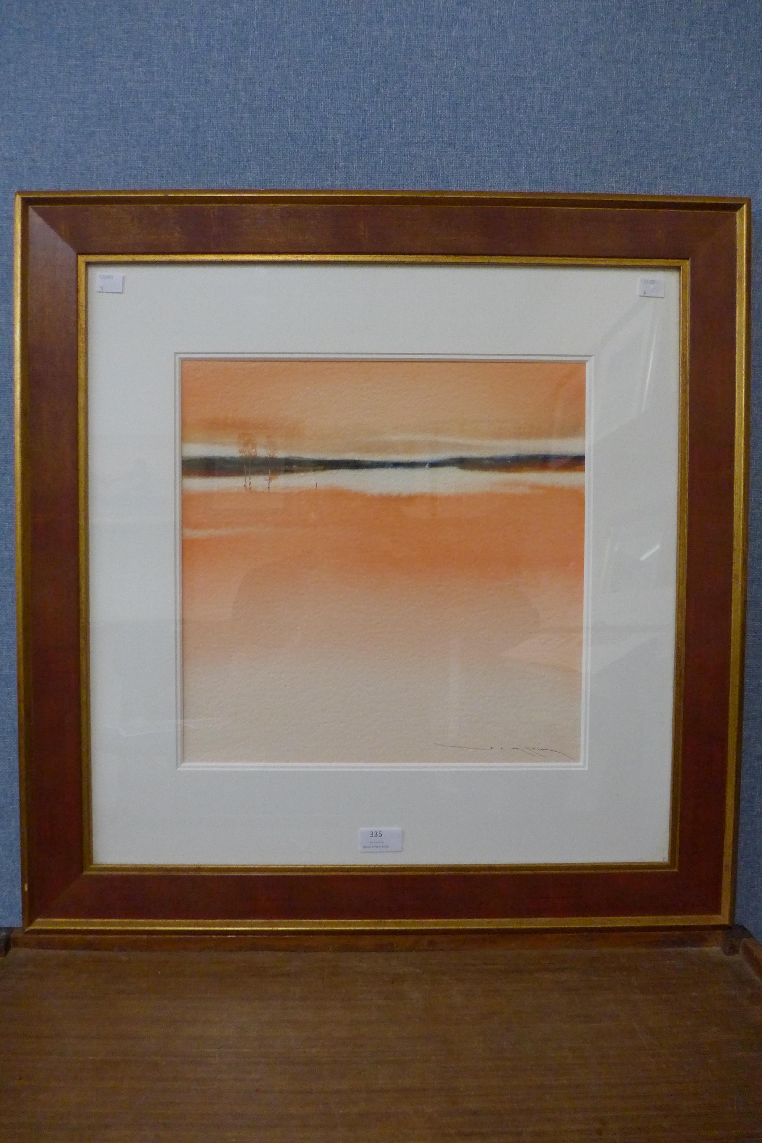 Simon King, English Skies IV, watercolour, framed