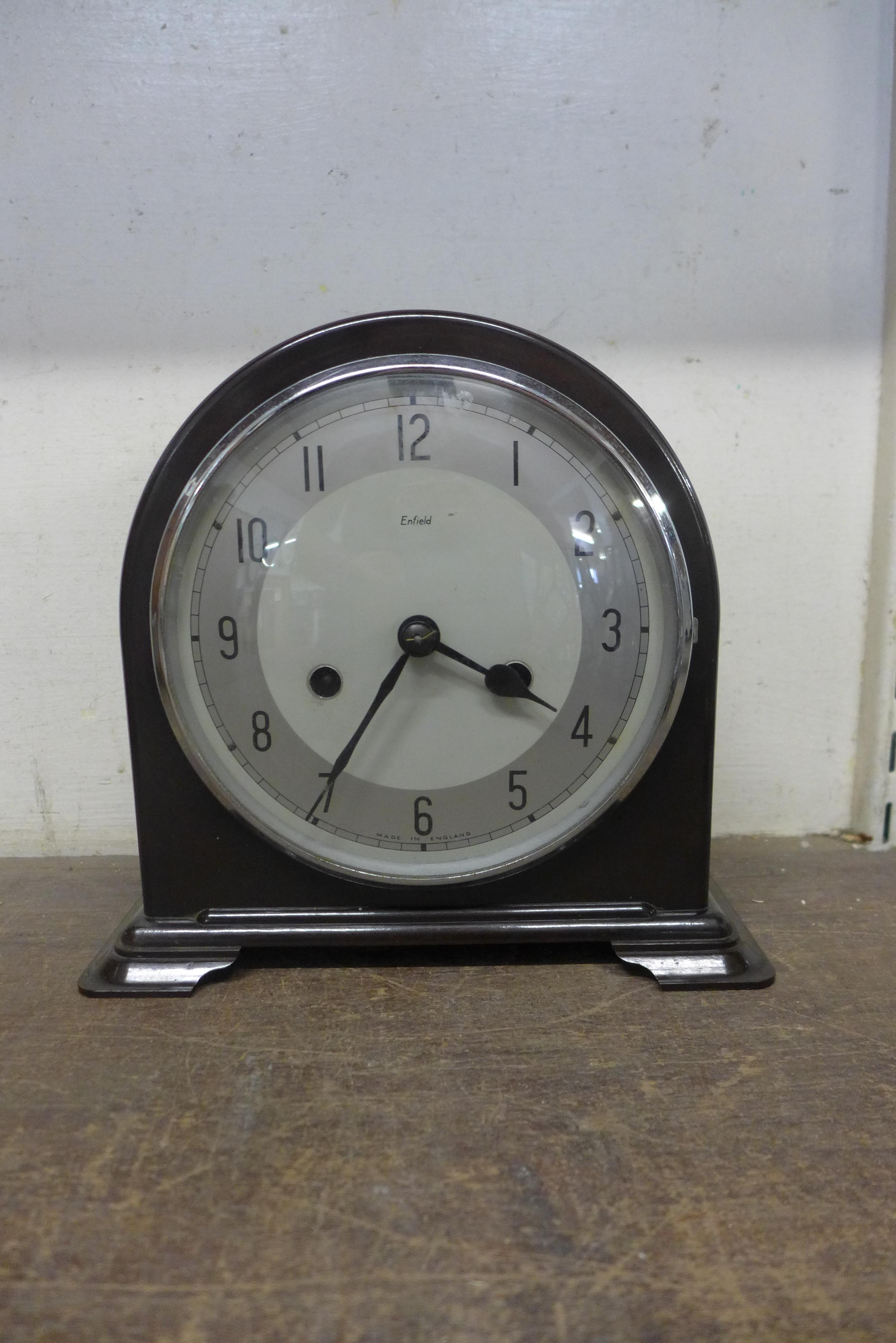 An Enfield Bakelite mantel clock