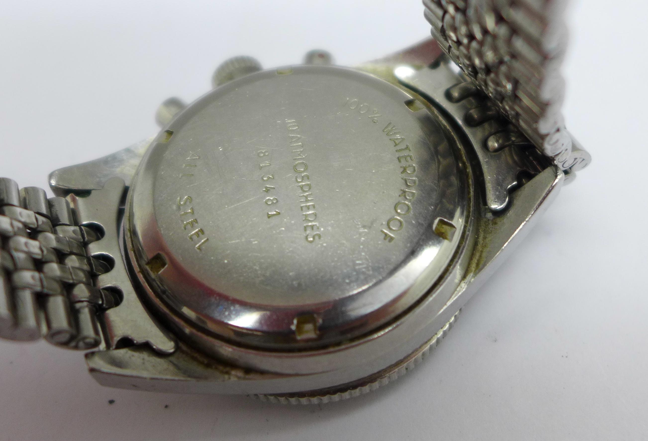 A Yema Yachtingraf 17 jewels chronograph wristwatch on a Seiko bracelet strap, chronograph buttons - Image 7 of 8