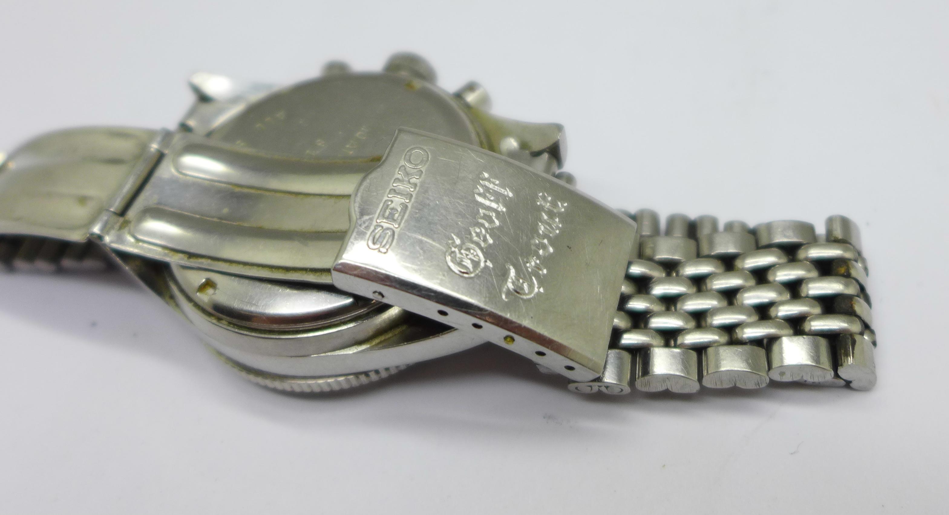A Yema Yachtingraf 17 jewels chronograph wristwatch on a Seiko bracelet strap, chronograph buttons - Image 6 of 8