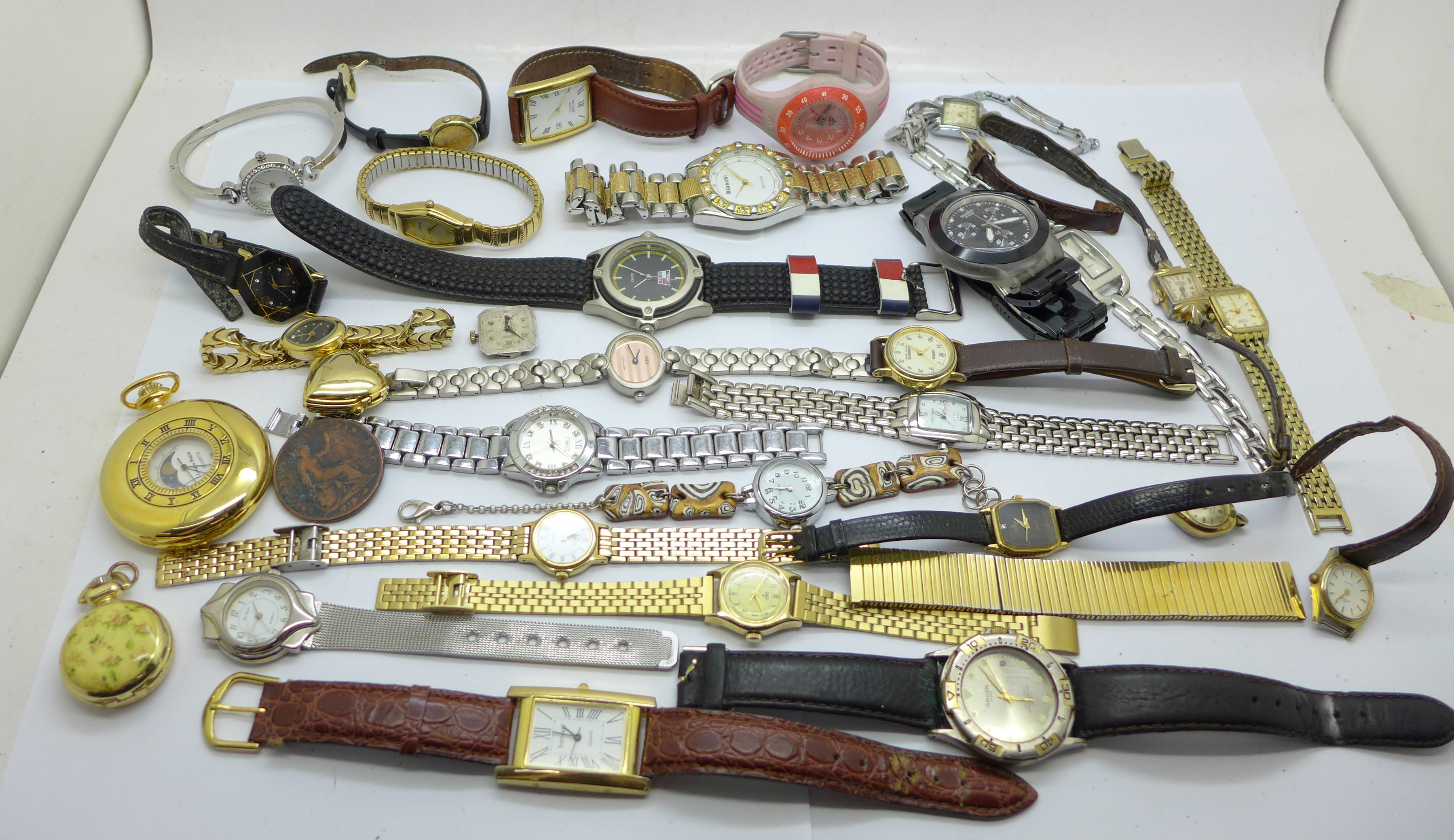 Wristwatches, pocket watches, etc., including Swatch and Seiko