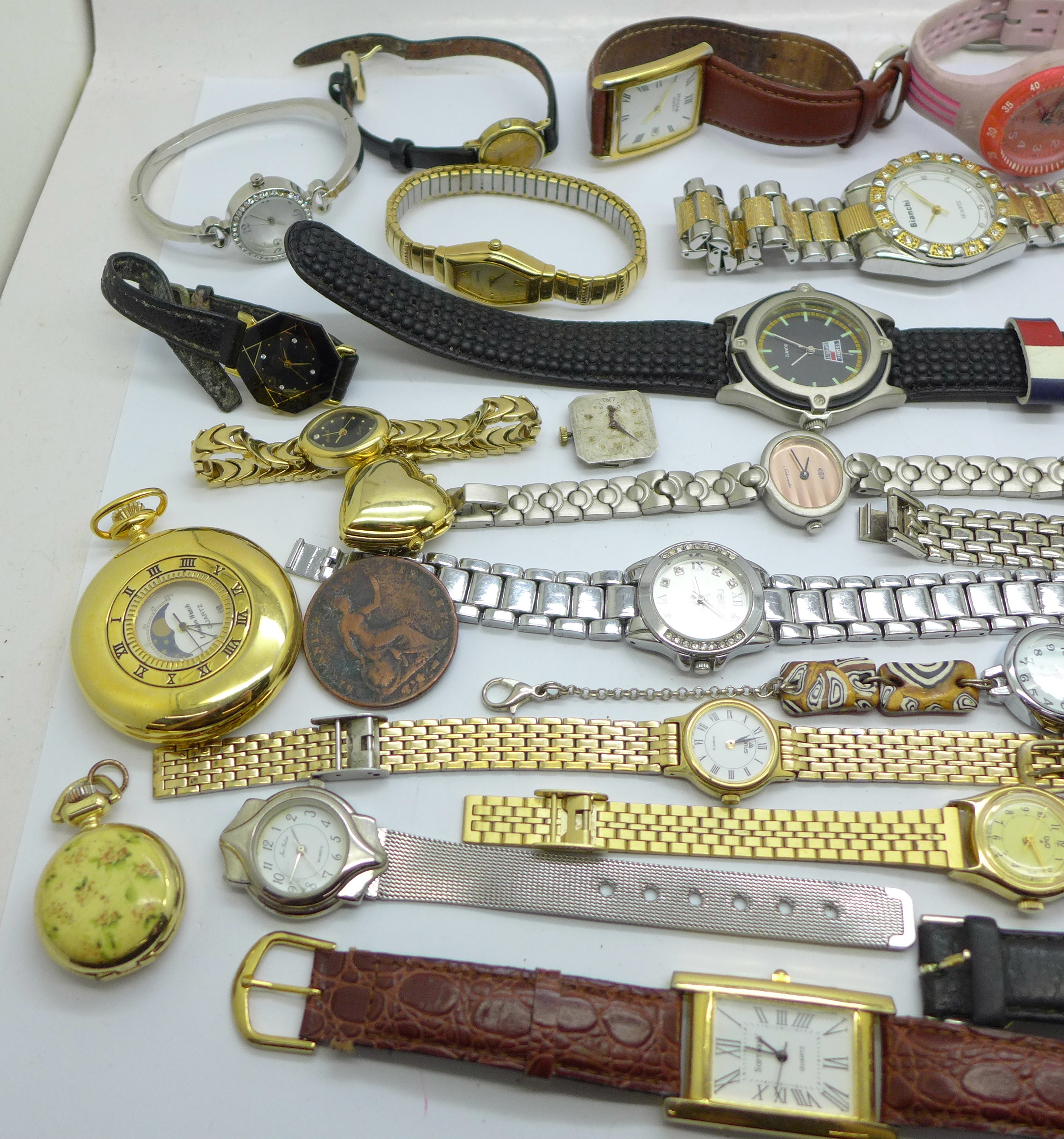 Wristwatches, pocket watches, etc., including Swatch and Seiko - Image 2 of 5