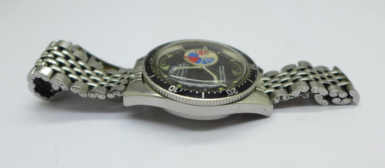 A Yema Yachtingraf 17 jewels chronograph wristwatch on a Seiko bracelet strap, chronograph buttons - Image 3 of 8