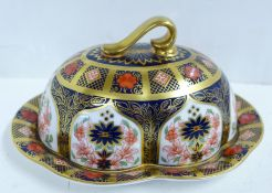 A Royal Crown Derby Old Imari butter dish and cover, second