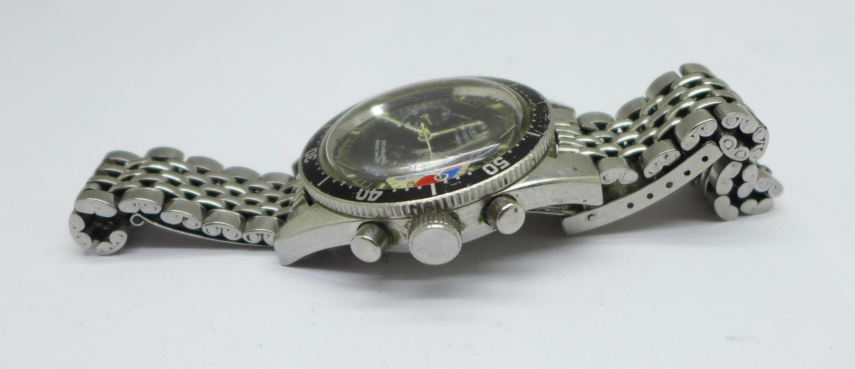 A Yema Yachtingraf 17 jewels chronograph wristwatch on a Seiko bracelet strap, chronograph buttons - Image 2 of 8