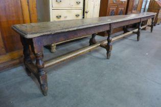 A George III oak and elm bench