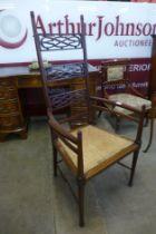 A Scottish Arts and Crafts mahogany armchair