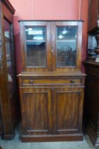 A George IV mahogany four door side cabinet